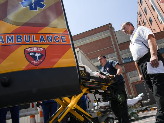 South Carolina ranked 11th in the number of EMTs and paramedics.
