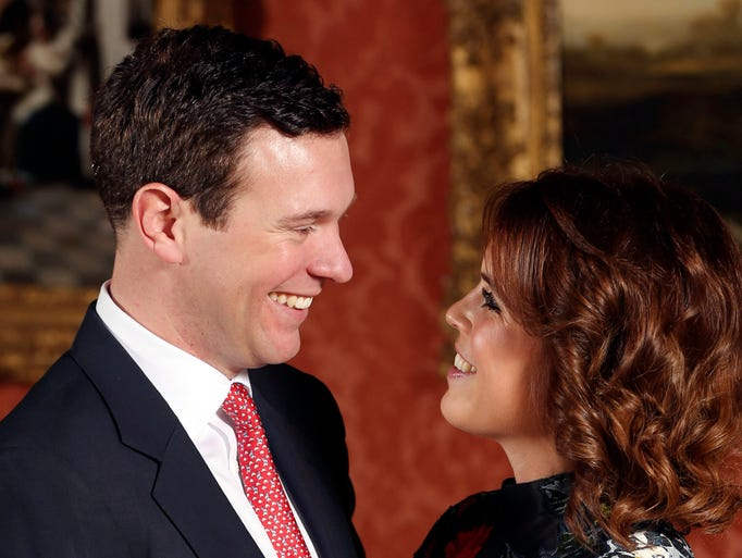 Britain's Princess Eugenie and Jack Brooksbank are
