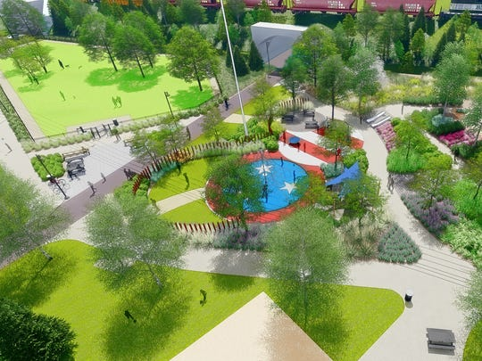 The planned public park at Capitol View development