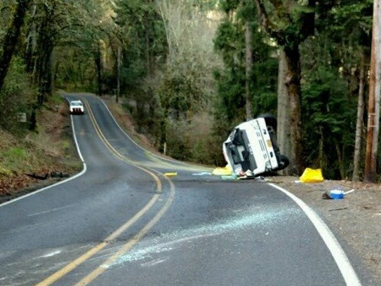A truck crash has closed Vitae Springs S Monday, March