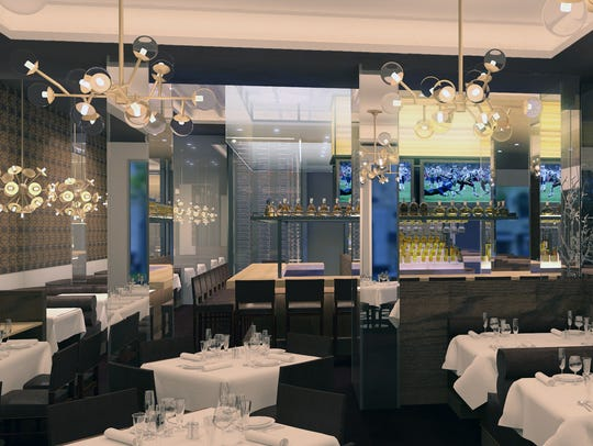 One of the dining areas at the new Ocean Prime, 699