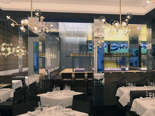 One of the dining areas at the new Ocean Prime, 699 Fifth Ave. S., in downtown Naples.