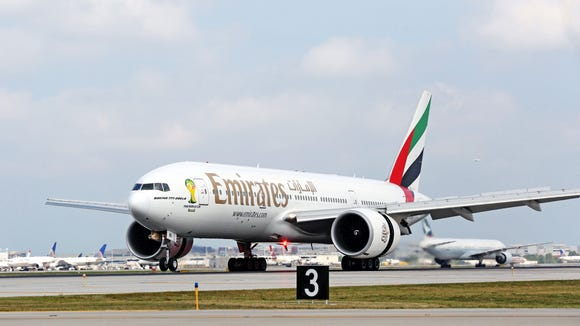 In this file photo from August 2014, an Emirates airline