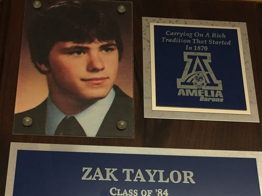 Zak Taylor starred in football and in the shot put