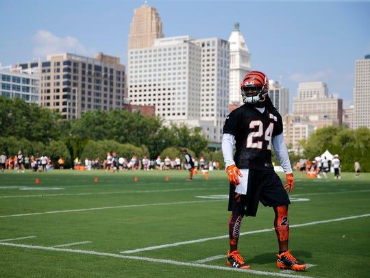 Cincinnati Bengals cornerback Adam Jones (24) walks