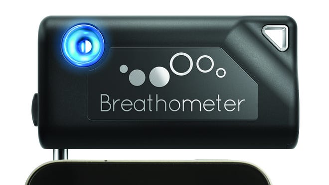 While the Breathometer can't keep track of your drinks per se, it can give you an idea of how much alcohol is in your system.