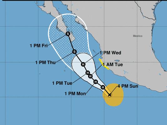 Hurricane Bud: On track to impact Mexico and U.S. Southwest