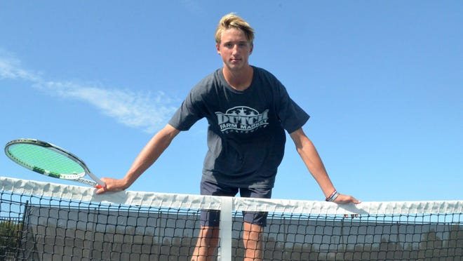 West Ottawa's Teddy Schurman was the top tennis player in the OK Red.