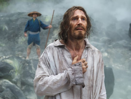 """Liam Neeson plays Father Ferreira in """"Silence."""""""
