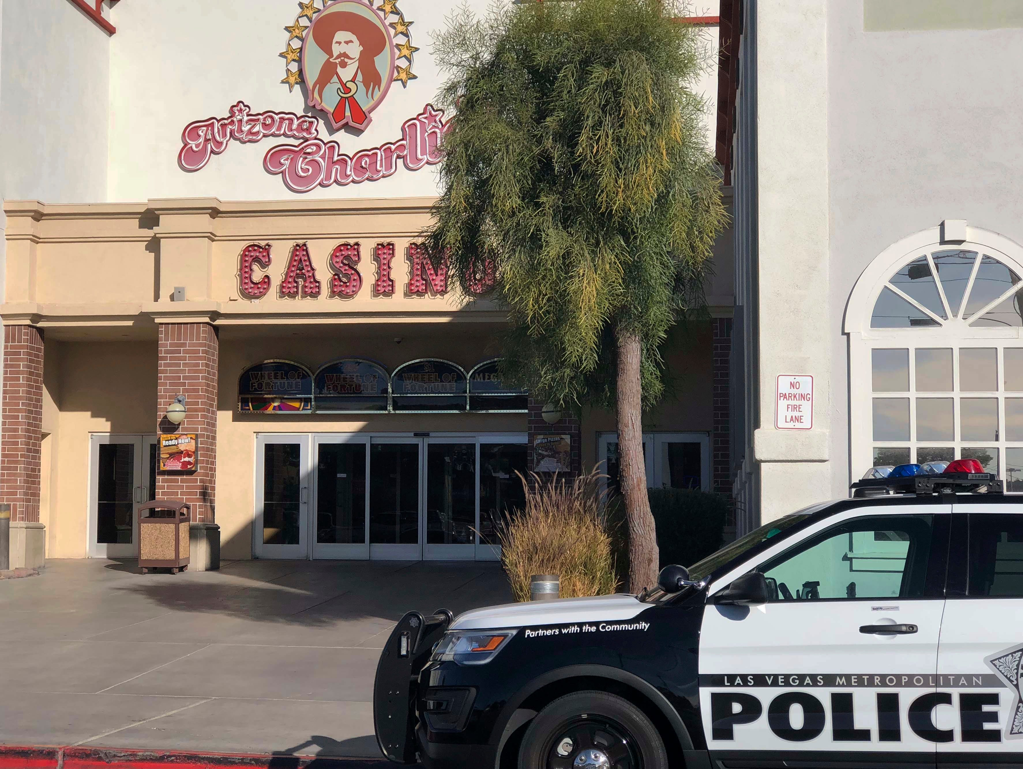 Metropolitan Police Department officers were called the morning of Dec. 30, 2017, to investigate reports of a shooting at Arizona Charlie's casino-hotel in Las Vegas.