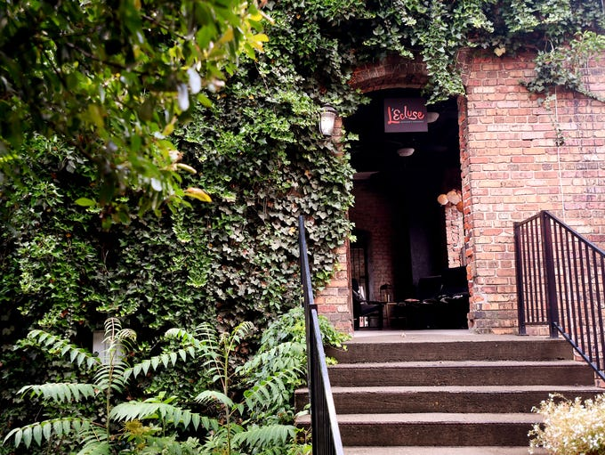 The back entrance to L'Ecluse, a speakeasy-styled bar