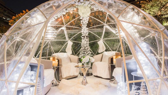 The Watergate Hotel has igloos outside its Next Whisky