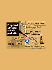 Proposed off-road vehicle site