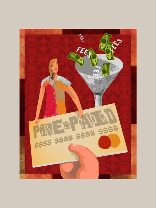 ILLUSTRATION: Prepaid cards