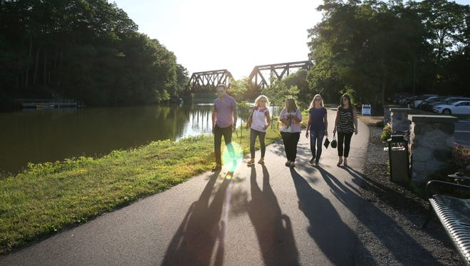 The Erie Canalway Trail, shown here in Pittsford, would be a part of the proposed trail stretching from lower Manhattan north to the Canadian border and west to Buffalo.