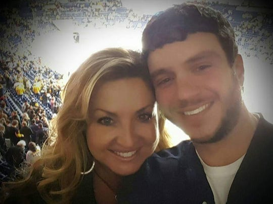 Sonny Melton, with his wife Heather Melton. Sonny was shot in the back as he and Heather ran.