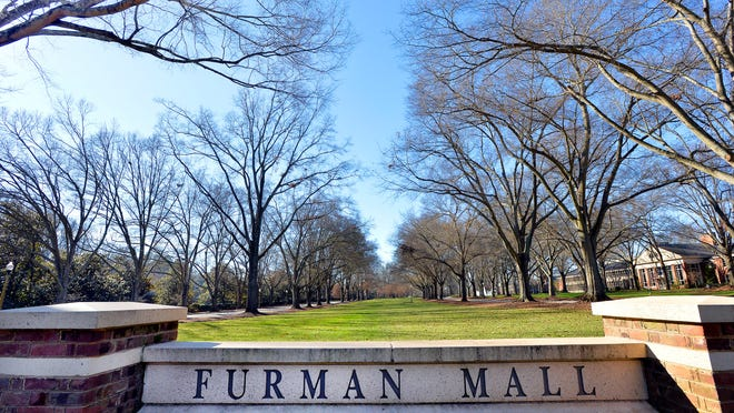 In this file photo, large oak trees line the Furman Mall on the Furman University campus. The Sigma Alpha Epsilon fraternity, which has operated at Furman University for 147 years, has been suspended by the chapter's national organization, officials with Furman and the national fraternity told The Greenville News.