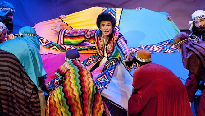 Joseph (Andrew Cantelmi) and the Amazing Technicolor Dreamcoat rehearsal at the LJ Williams Theater on Tuesday, November 17, 2015.