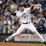 Milwaukee Brewers pitcher Chase Anderson took a no-hitter into the eighth inning before giving up a double to Ben Zobrist with no outs.