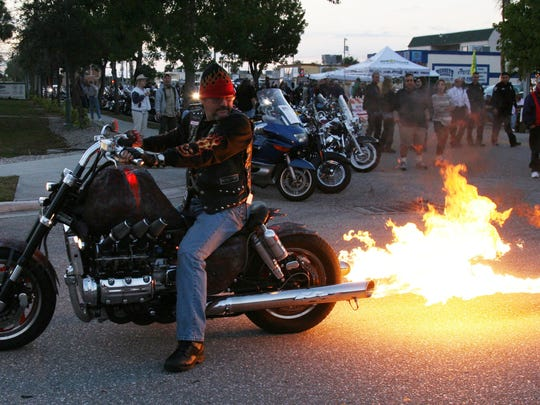 Cape Coral Bike Night night returnsOct. 10 Other free Bike Nights for the season areDec.12, Feb. 13, and April 9.