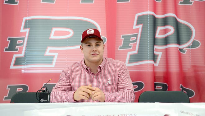 Pisgah senior Michael Parrott will play college football for Alabama.