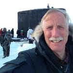 Senator Angus King (I-ME) snaps a self portrait while visiting the Arctic