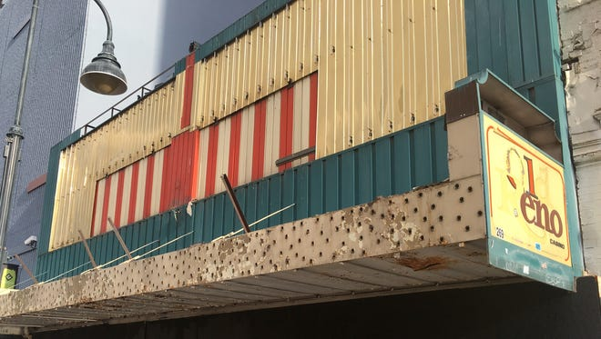 The front of Old Reno Casino on Commercial Row.