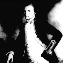 Capt. James Cook is shown in an undated portrait by John Webber.