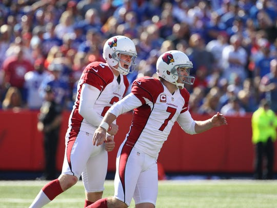 Arizona Cardinals kicker Chandler Catanzaro (7) celebrates