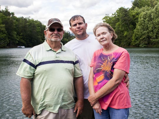 "Among the most vocal opponents of ""Something Bruin,"" Linda Crisp says her husband David Crisp, left, and son Chad Crisp were wrongly targeted. The men were convicted of charges stemming from bear poaching around Fontana Lake, where the family runs a boat dock."