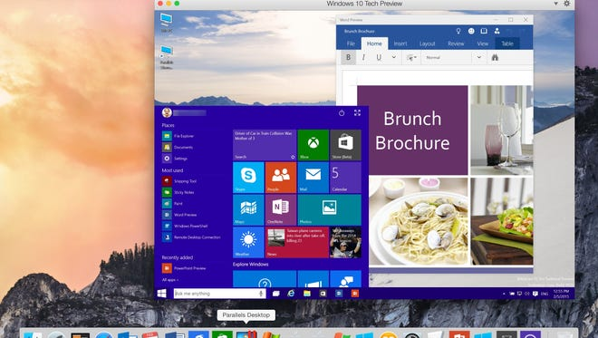 Through Parallels you can run Windows 10 on a Mac .