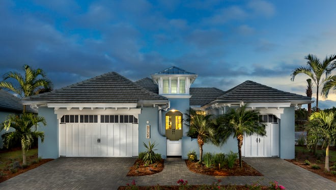 Minto's Plumeria at The Isles of Collier Preserve includes 4,049 total square feet with 2,781 square feet under air.