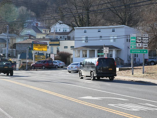 Route 9W and Gurnee Ave. in West Haverstraw photographed