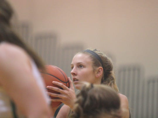 Anderson's Karley Steinher looks intently at a free