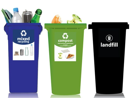 Recycling bin labels can vary, which confuse consumers,
