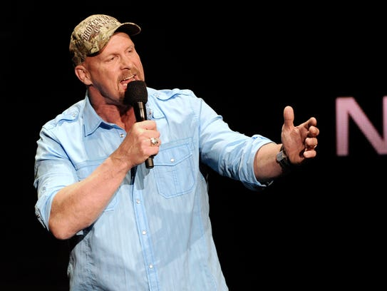 """WWE personality """"Stone Cold"""" Steve Austin said he mostly"""
