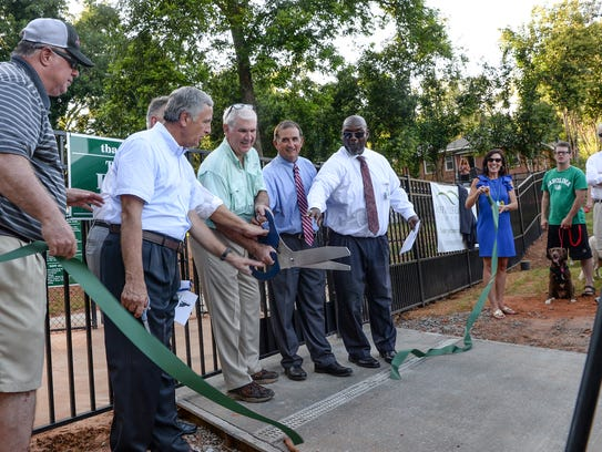 Leaders in the creation of Anderson's first dog park