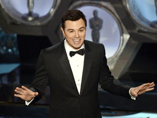 Seth MacFarlane hosts the Oscars on Feb. 24, 2013 in