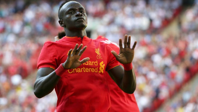 Liverpool's Sadio Mane during the match between Liverpool FC and FC Barcelona, on Aug. 6.