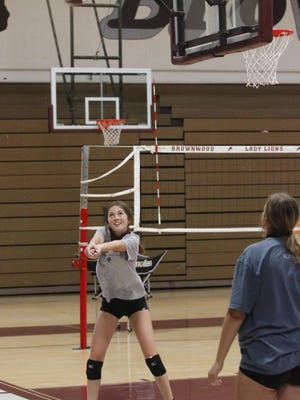 Volleyball practice continues Wednesday in the Brownwood High School gym. The BISD has informed parents of policies related to COVID.