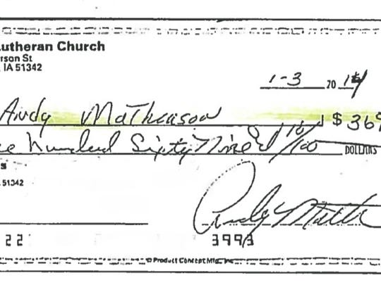 Andrew Matheason is alleged to have embezzled more
