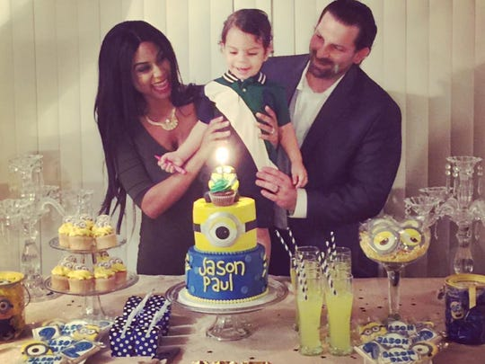 Imani and Jason with their son, Jason Paul, at his