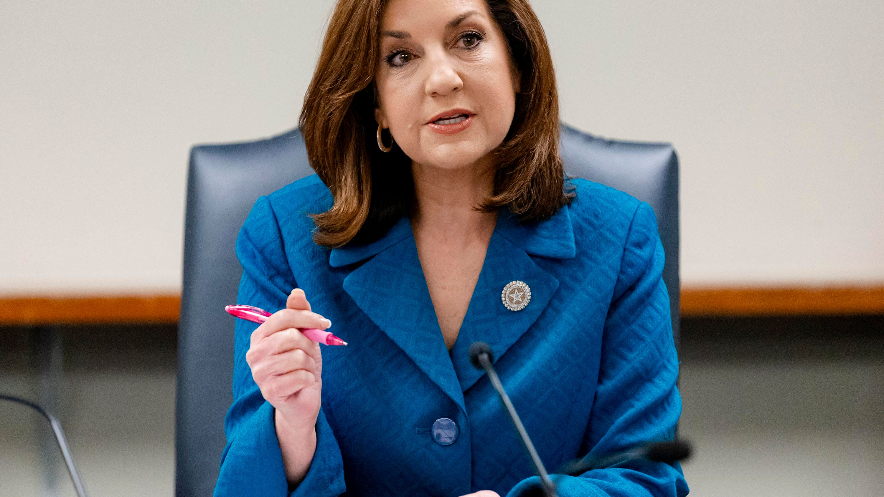 Oklahoma's State Superintendent of Public Instruction Joy Hofmeister says she's switching to the Democratic Party to challenge Gov. Kevin Stitt for governor next year.