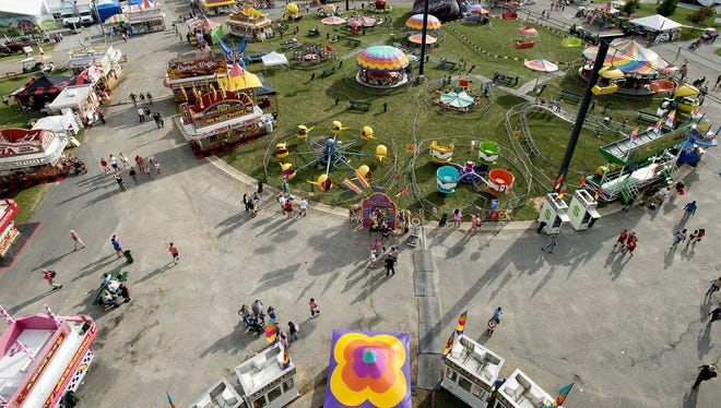 Crowds enjoy the N.C. Mountain State Fair on opening day Friday.