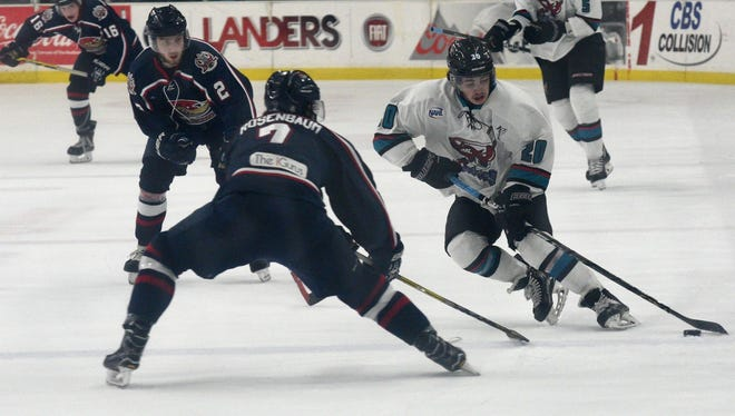 Frankie Melton (20) leads the NAHL in scoring entering the final weekend.