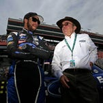 Jack Roush, right, with his Xfinity Series driver Darrell Wallace Jr., is struggling in Sprint Cup so far this year.