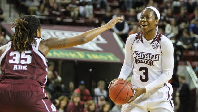 Mississippi State's Breanna Richardson helped her team climb into the top 15.