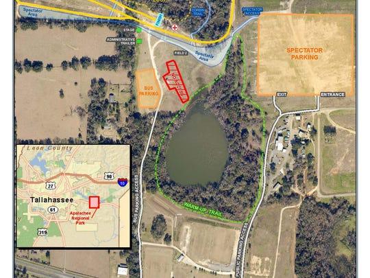 Apalachee Regional Park site map