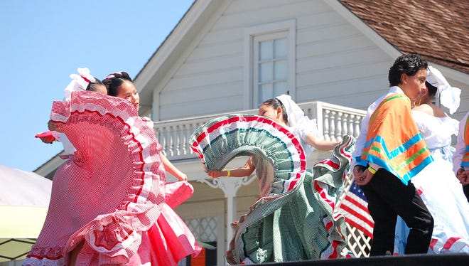 Children dance at the 2018 Founder's Day in Salinas Saturday.
