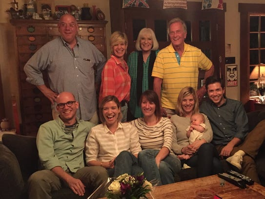 Debby Boone, back row, next to her husband and parents